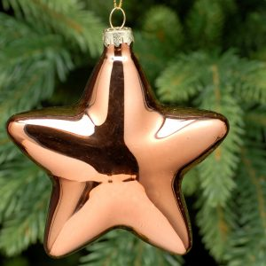 Glass Copper Hanging Star Decoration