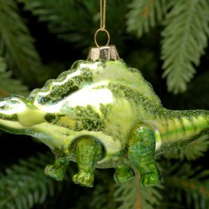 Christmas Stegosaurus Hanging Decoration
