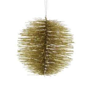 Gold Bristle Ball Hanging Decoration