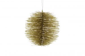 Gold Bristle Ball Hanging Decoration