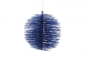 Blue Bristle Ball Hanging Decoration