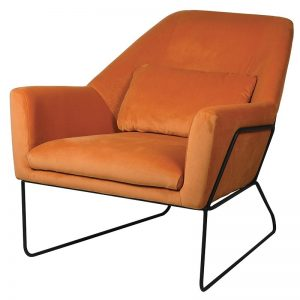 Viola Pumpkin Occasional Velvet Chair