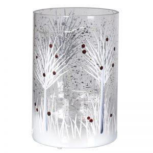 Small Light Up Snowy Tree Lantern