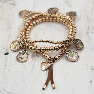 Gold Charm Style Bracelet