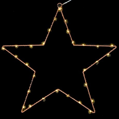 Bronze LED Wire Star