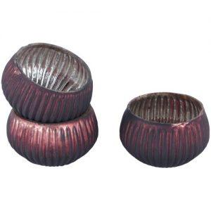 Dark Red Mini Tea Light Holder