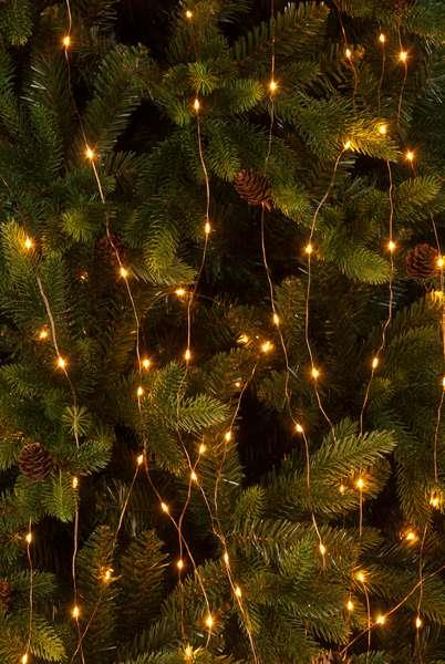 200 Amber Branch Dew Drop Copper Wire LED Lights