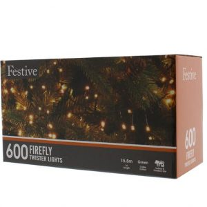 600 Warm White Firefly Twister Lights
