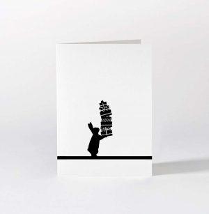 Present Giving Rabbit Card