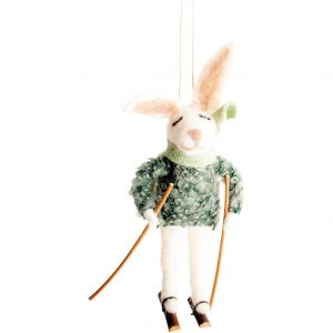 Ronnie Rabbit Hanging Christmas Decoration
