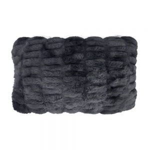 Luxury Grey Faux Fur Chinchilla Cushion 30x50cm