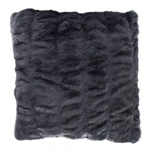 Luxury Grey Faux Fur Chinchilla Cushion 45x45cm