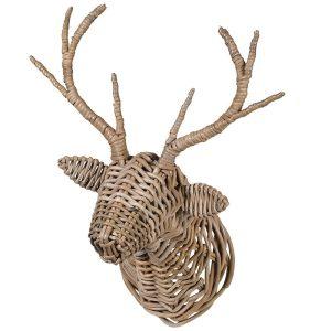 Rattan Deer Head