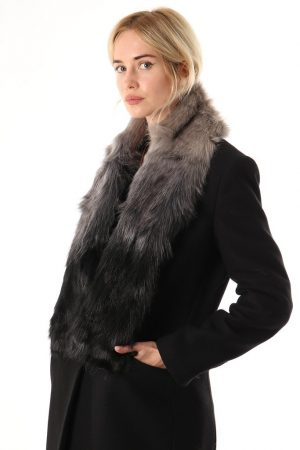 A Grey to Black ombre faux fur stole