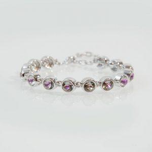 Luxury Tennis Bracelet with Swarovski Stones