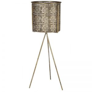 Gold Filagree Pot Plant Stand