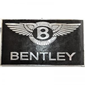 Black Bentley Metal Sign