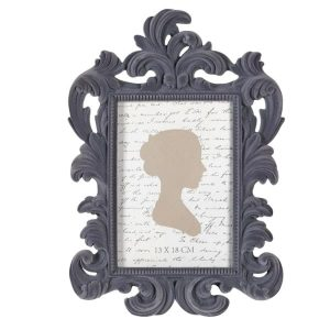 Grey Flock Photo Frame