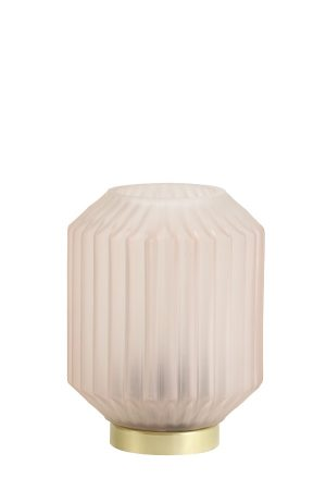 Light Grey Glass Table Lamp