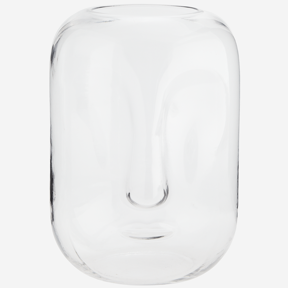 Glass Vase with Face Imprint