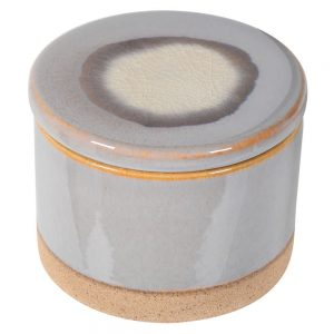 Small Grey Ceramic Lidded Jar