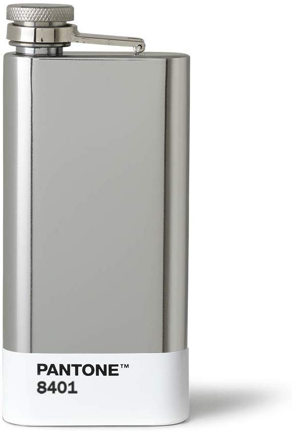 Silver 289 Pantone Hip Flask