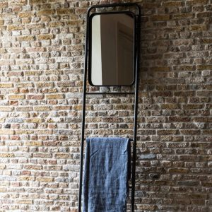 Wall Rack Ladder with Mirror