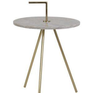 Moyuta Grey Marble Side Table