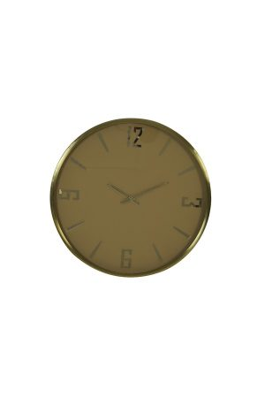 Olive Green & Brass Minturi Clock