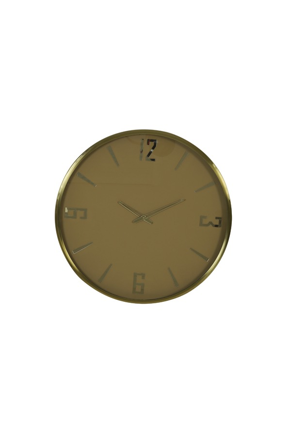 Olive Green & Brass Minturi Clock