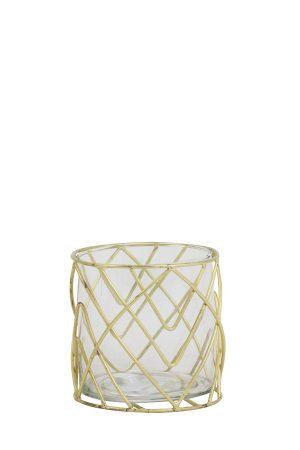 Glass Gold Tea Light
