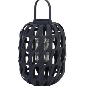 Dark Grey Bamboo Lantern