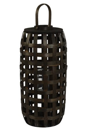 Dark Brown Bamboo Lantern