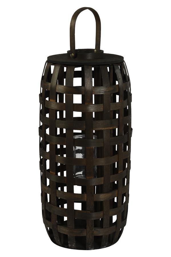 Dark Brown Bamboo Lantern