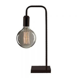 Black Tubular Table Light