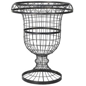 Large Distressed Wire Urn