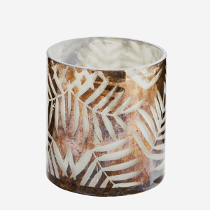 Glass Votive with Leaves