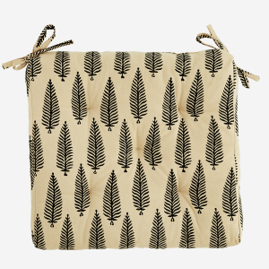 Fern Printed Cotton Seat Pad