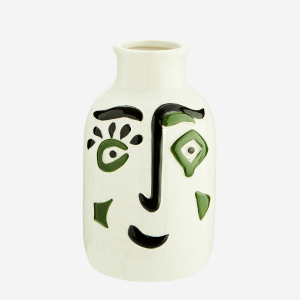 Stoneware Vase with Face
