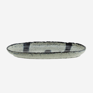 Oval Painted Stoneware Platter