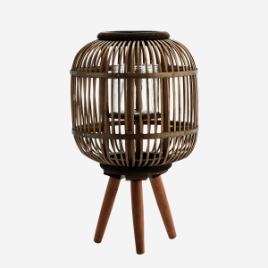 Brown Bamboo Lantern with Stand