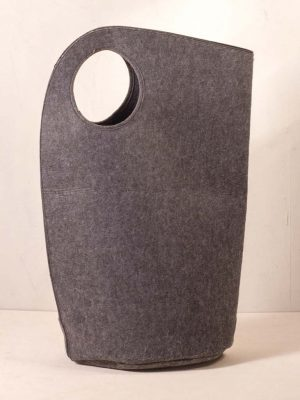 Dark Grey Felt Laundry Bag