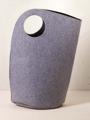 Light Grey Felt Laundry Bag