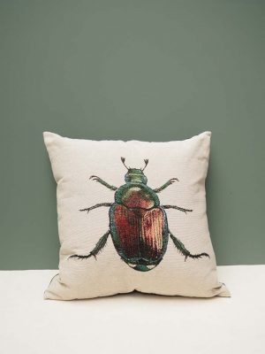 Cushion With Beetle Print
