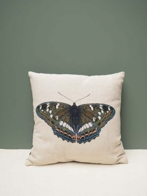 Cushion with Butterfly Print