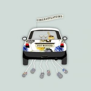 Congratulations Just Married Greetings Card