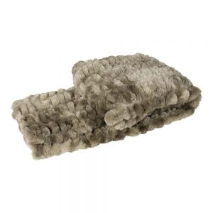 Luxury Ribbed Bear Faux Fur Throw