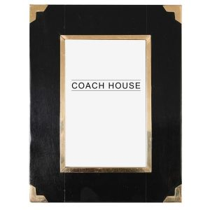 Black with Gold Trim Photo Frame