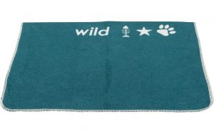 Small Dark Green Pet Blanket 'Born To Be Wild'