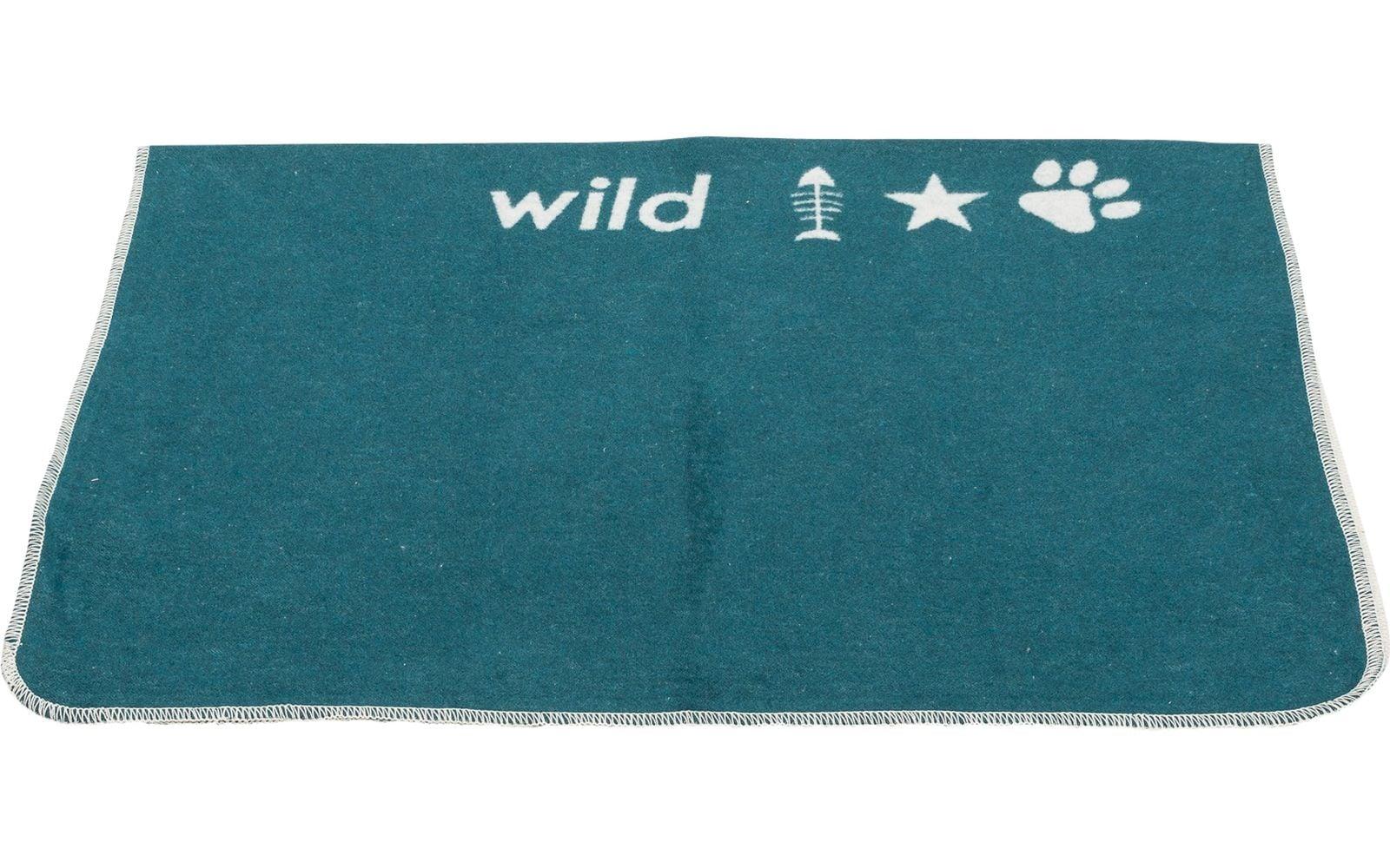 Small Dark Green Pet Blanket 'Born To Be Wild'